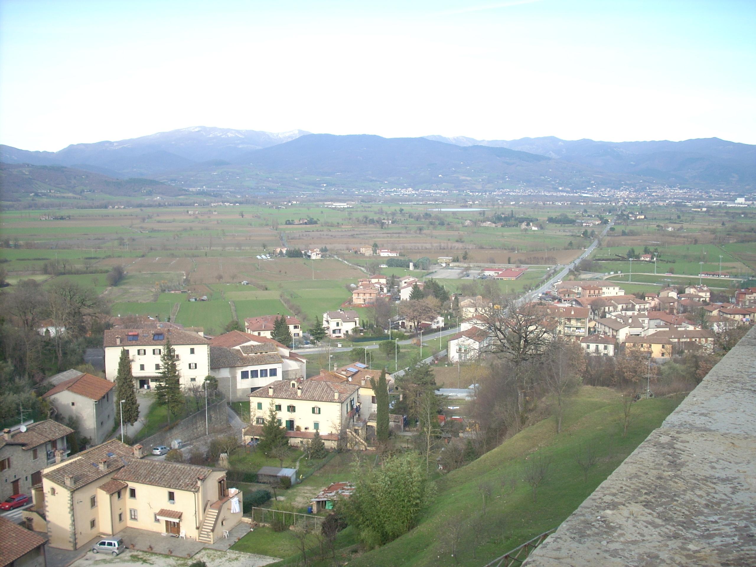 La Piana della Battaglia, vista da Anghiari