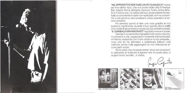Booklet Sergio Caputo